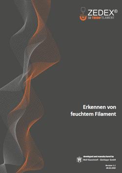 Dokumente - Erkennen von feuchtem Filament