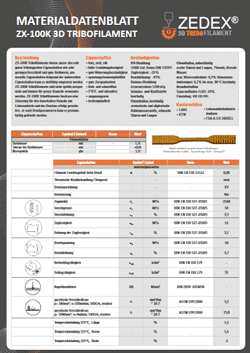 ZX-100K Material Datenblatt